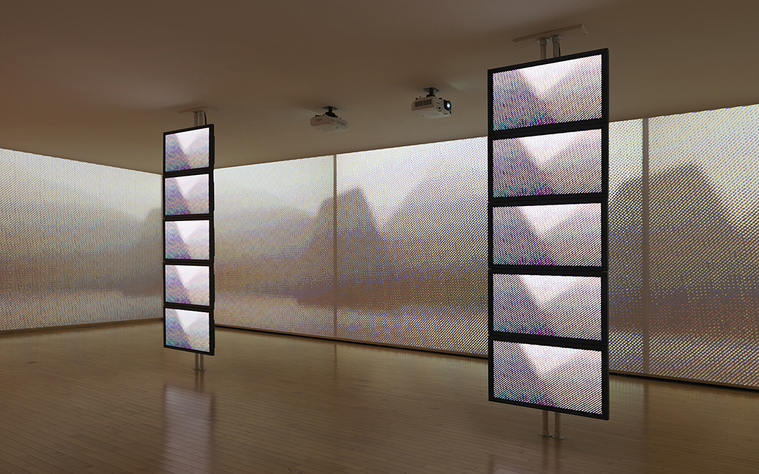 installation view of Beyond the Trees: Wallpapers in Dialogue with Emily Carr, exhibit at the Vancouver Art Gallery, April 25 to September 7, 2015